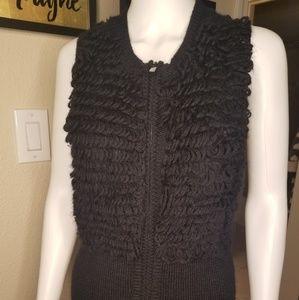 BCBG  runway loop knitted zipper vest.